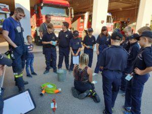 Feuerwehrjugendübung: Gerätekunde HLF 3