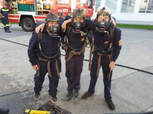Feuerwehrjugendübung: Atemschutz
