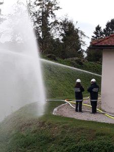 Feuerwehrjugendübung: Einsatzübung