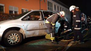 Feuerwehrjugendübung: Verkehrsunfall mit Menschenrettung