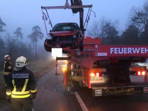Verkehrsunfall beim Weißen Kreuz