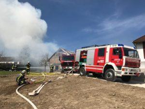 Scheunenbrand in Neuhofen/Ybbs