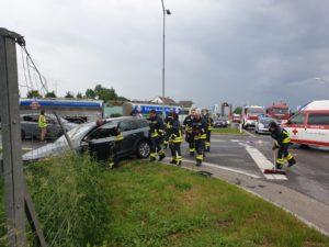 PKW-Bergung nach Verkehrsunfall