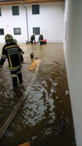Hochwassereinsätze durch Starkregen